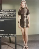 Anne Francis standing in Sexy Black Dress Photo by  Movie Star News