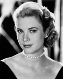 Grace Kelly Curly Hair, Red lipstick wearing Black Gown Portrait Photo by  Movie Star News