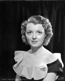 Janet Gaynor on a Ruffled Top Portrait Photo by  Movie Star News