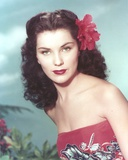 Debra Paget Close Up Portrait wearing Red Tube Dress Photo af Movie Star News