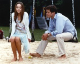 Amanda Bynes sitting on Swing Candid Photo Photo by  Movie Star News