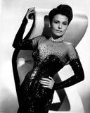 Black and White Portrait of Lena Horne in Black Gown Foto von  Movie Star News