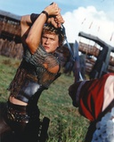 Heath Ledger wearing a Vest with Sword in a Fighting Scene Photo by  Movie Star News