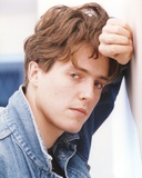 Hugh Grant Portrait in Denim Jacket Photo by  Movie Star News