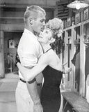 Damn Yankees Cast hugging in Black and White Photo by  Movie Star News
