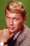 Troy Donahue Green Background Close Up Portrait Photo by  Movie Star News