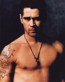 Colin Farrell Topless Portrait Photo by  Movie Star News