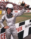 Bonnie Bedelia Posed with Her Trophy in Car Racing Outfit Photo by  Movie Star News
