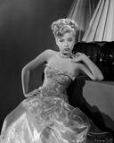 Gloria DeHaven posed in Gown in Black and White Photo by  Movie Star News
