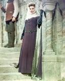 Joanne Dru standing in Elegant Dress with Veil Photo by  Movie Star News