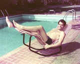 Fernando Lamas in Swimming Trunks at the Pool Photo by  Movie Star News