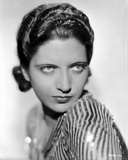 Kay Francis on a Stripe Top Portrait Photo by  Movie Star News