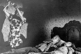 Strait Jacket Woman trying to Kill Man and Woman Sleeping in Bed Photo by  Movie Star News