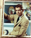 Dean Jones in Brown Coat in Black and White Photo by  Movie Star News