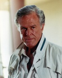 Robert Culp Portrait in White Polo Photo by  Movie Star News