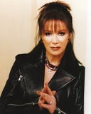 Jackie Collins Posed in Black Leather Jacket Photo by  Movie Star News
