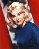 Diane Cilento Portrait in Blue Shirt Photo by  Movie Star News