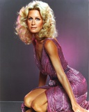 Joan Van Ark Posed in Pink Dress Photo by  Movie Star News