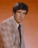 Robert Fuller in Formal Outfit Red Background Portrait Photo by  Movie Star News