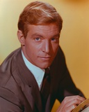 James Franciscus in Gold Background Close Up Portrait Photo by  Movie Star News
