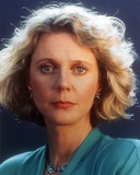 Blythe Danner wearing Blue Dress with Blue Background Close Up Portrait Photo by  Movie Star News