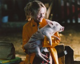 Dakota Fanning with Pig Portrait Photo by  Movie Star News