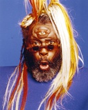 George Clinton Portrait in Blue Background Photo af Movie Star News