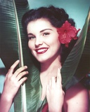 Debra Paget Close Up Portrait with a Flowers on Her Hair Photo af  Movie Star News