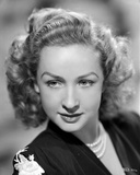 Bonita Granville on Dark Top with Pearl Necklace Photo by  Movie Star News