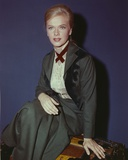 Anne Francis sitting in Formal Dress Portrait Photo by  Movie Star News