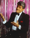 Jay Leno Portrait in Black Suit and White Silk Collar Shirt with Black Blow Tie Photo by  Movie Star News