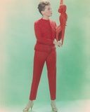 Dolores Hart Posed in Red Outfit Photo by  Movie Star News