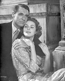 Indiscreet Sweet Couple Portrait in Black and White Photo by  Movie Star News