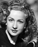 Bonita Granville on a Netted Veil Leaning Portrait Photo by  Movie Star News
