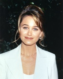 Christine Taylor Posed in White Coat Portrait Photo by  Movie Star News
