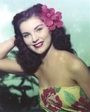 Debra Paget Close Up Portrait wearing Floral Dress Photo af Movie Star News
