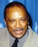 Quincy Jones smiling in Close Up Portrait wearing Gray Formal Suit Photo by  Movie Star News