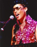 Alicia Keys in Pink Dress singing Photo by  Movie Star News