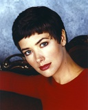 Janine Turner Portrait in Red Sweater Photo by  Movie Star News