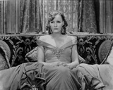 Greta Garbo in Gown and sitting Portrait Photo by  Movie Star News