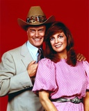 Dallas Red Background Couple Portrait Photo by  Movie Star News