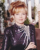 Linda Purl Portrait in Black Sequin Long Sleeve Dress Photo af Movie Star News