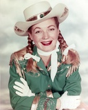Gail Davis in Cowboy Outfit Close Up Portrait Photo by  Movie Star News
