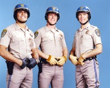 Chips Cast Posed Together in Police Uniform with Hands on Their Belt Photo by  Movie Star News