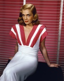Lizabeth Scott in Red and White Dress Portrait Photo af Movie Star News