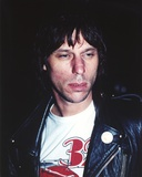 Jeff Beck Candid Shot in Black Leather Jacket and White Round Neck T-Shirt Photo af Movie Star News