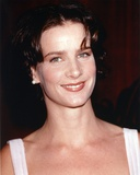 Rachel Griffiths smiling in White Sleeveless Dress Photo by  Movie Star News