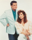 Regis & Kathie Posed in White Background Couple Portrait Photo by  Movie Star News