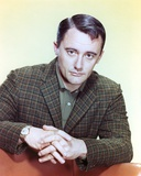 Robert Vaughn Posed in suit with Hands Clenched Together Photo by  Movie Star News