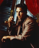 Mark Harmon Portrait in Brown Suit Photo by  Movie Star News
